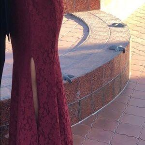 Burgandy long formal dress